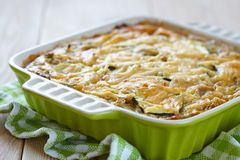 Casserole with cabbage and zucchini Stock Photo