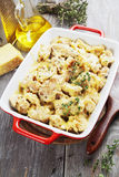 Casserole with cauliflower and chicken Stock Images