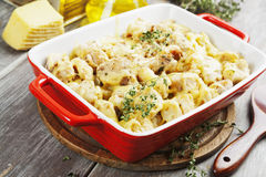 Casserole with cauliflower and chicken Royalty Free Stock Photography