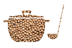 Casserole of chickpeas. Image of a casserole of chickpeas Stock Photo