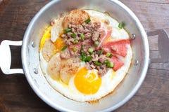 Casserole d'oeufs, petit déjeuner Images stock