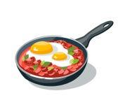 Casserole d'omelette Photo libre de droits