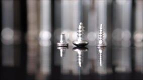 Casserole de mouvement lent de trois vis avec autres troubles clips vidéos