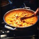 Casserole de poulet indien de beurre Photo stock