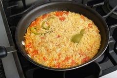 Casserole de riz frit Image libre de droits