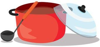Casserole de soupe Photo libre de droits
