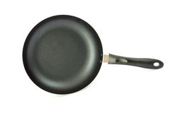 Casserole de vert de vue supérieure avec Photo stock