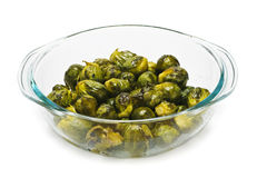 Casserole dish of brussels sprouts Royalty Free Stock Photos
