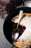 Casserole with elderberries Stock Image