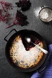 Casserole with elderberries Royalty Free Stock Images