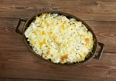 Casserole with fish and pasta Royalty Free Stock Images