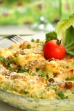 Casserole with fish and potatoes Stock Photo