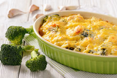 Casserole with fish salmon, potatoes and broccoli. Casserole with fish salmon, potatoes and broccoli Royalty Free Stock Photos