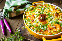 Casserole of Fresh vegetable marrows Royalty Free Stock Image