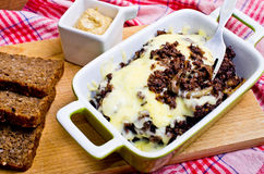 Casserole made for black pudding Stock Images