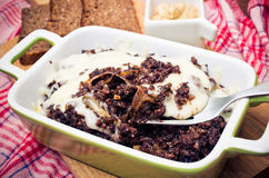 Casserole made for black pudding Royalty Free Stock Photo