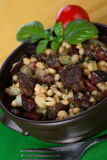 Casserole Made From Beans With Sausage Stock Images