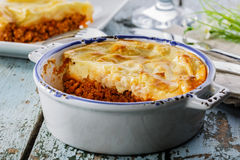 Casserole with minced meat and potatoes Stock Photography
