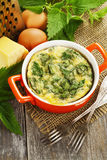 Casserole with nettle stock photo