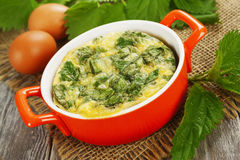 Casserole with nettle Stock Image