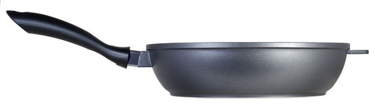 Casserole noire de téflon photo stock