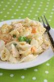 casserole noodle κοτόπουλου Στοκ Φωτογραφίες