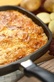 Casserole on the pan Stock Image