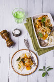 Casserole with pasta Stock Photography
