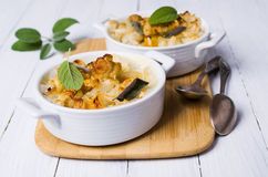 Casserole with pasta Stock Photo