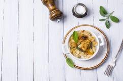 Casserole with pasta Stock Photos