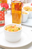 Casserole in portion pots Stock Photos