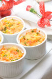 Casserole in portion pots Royalty Free Stock Photo