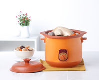 Chicken casserole pot isolated  Royalty Free Stock Images