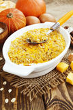 Casserole of pumpkin and oatmeal royalty free stock photos