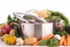 Casserole with raw vegetable Royalty Free Stock Image