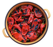Casserole with roasted red pepper Stock Photo