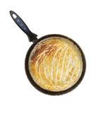 Casserole sale après cuisson Photographie stock libre de droits