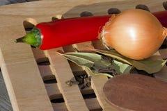 casserole som lagar mat läckert home hemlagat recept Fotografering för Bildbyråer