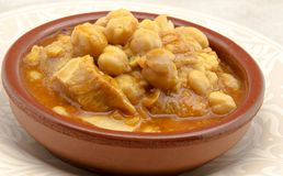 Tripe with chickpeas Royalty Free Stock Image
