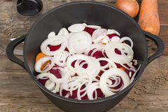 Casserole with vegetables for fighting Stock Images