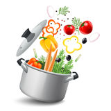Casserole With Vegetables Illustration Royalty Free Stock Image