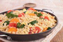 Casserole with wheat and vegetables Royalty Free Stock Images