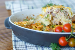 Casserole With Pasta And Meat Royalty Free Stock Image