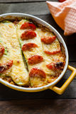Casserole with zucchini and cheese Royalty Free Stock Images