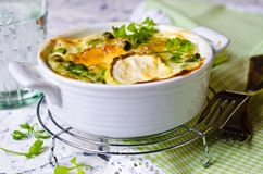 Casserole with zucchini Royalty Free Stock Image