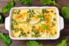 Casserole with zucchini Stock Photo