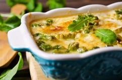 Casserole with zucchini Stock Image