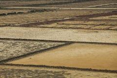 Casseroles de sel photographie stock libre de droits