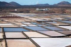 Casseroles de sel de Janubio Images libres de droits