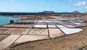 Casseroles de sel de Janubio Image libre de droits